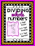 2-Digit Division: 2-Digit Divisors, 3 and 4-Digit Dividend