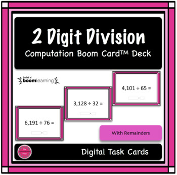 2 Digit Division Computation Boom Card Deck 1