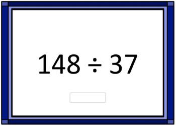 2 Digit Division Computation Boom Card Deck