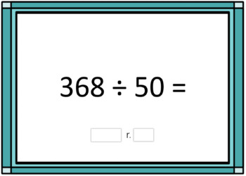 2 Digit Division Computation Problem Boom Card Deck 1 - With Remainders
