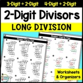 2-Digit Long Division Organizers and Worksheets