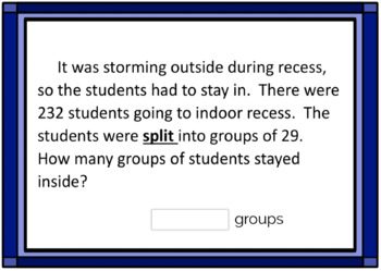 2 Digit Division {Modified} Word Problem Boom Card Deck