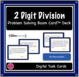 2 Digit Division Word Problem Boom Card Deck
