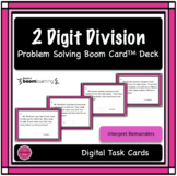 2 Digit Division Word Problem Digital Boom Card Deck
