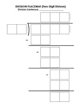 2-Digit Divisor Division Mat
