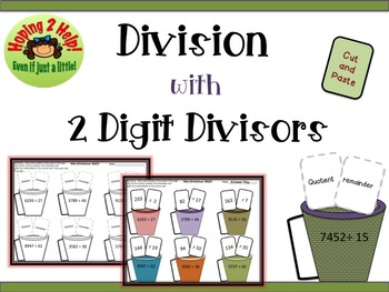 Long Division with 2 Digit Divisors and Remainders