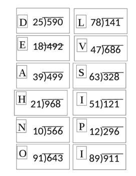 2 Digit Divisor Puzzle