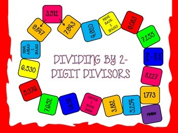 2-Digit Divisors Game Board Center Activity