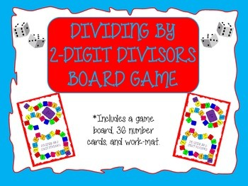 2-Digit Divisors Game Board Center Activity