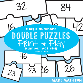 2 Digit Double Puzzles - Addition Activity