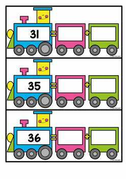2 Digit Expanded Form Activity Cards {Expanded Form Train}