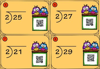 2 Digit Long Division Task Cards