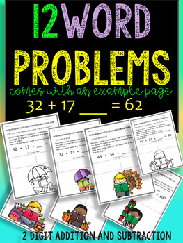 2-Digit MATH WORD PROBLEMS