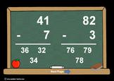 2 Digit Minus 1 Digit Subtr. PowerPoints+MatchingWkshts &Keys-BUNDLE of 3 PP's!