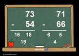 2 Digit Minus 2 Digit Subtr. PowerPoints+MatchingWkshts &Keys-BUNDLE of 3 PP's!