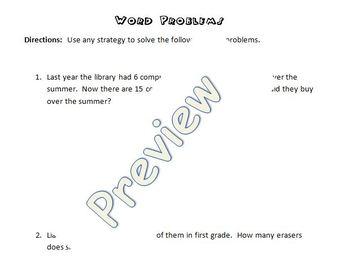 2-Digit Missing Addend Word Problems