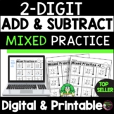 2-Digit Mixed Addition & Subtraction With and Without Regrouping Worksheets