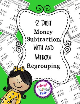 2 Digit Money Subtraction With and Without Regrouping