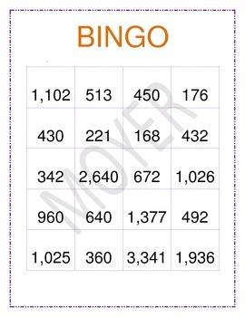 2-Digit by 2-Digit Muliplication Bingo