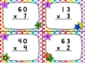 Multiplication Differentiated Task Cards - 2-Digits