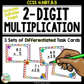 2-Digit Multiplication Task Cards Differentiated
