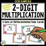 2-Digit Multiplication Task Cards - Differentiated