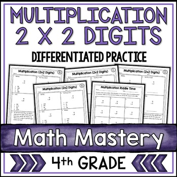 2 Digit By 2 Digit Multiplication Worksheets By Shelly Rees Tpt