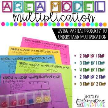 2-Digit Multiplication: Area Model Multiplication Activity
