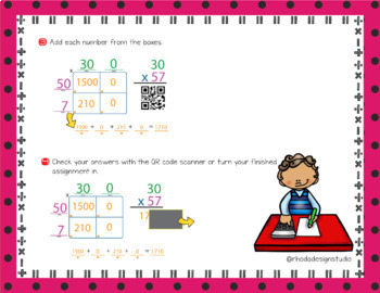 2 Digit Multiplication Area Model of Partial Products Google Classroom Paperless