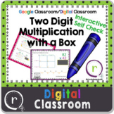 Two Digit Multiplication Area Model of Partial Products Digital Paperless