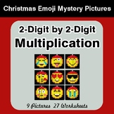 2-Digit Multiplication - Christmas EMOJI Color-By-Number Math Mystery Pictures