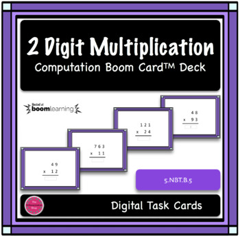 2 Digit Multiplication Computation Digital Boom Card Deck 2