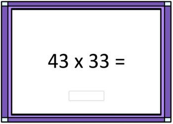 2 Digit Multiplication Computation Digital Boom Cards - Deck 1