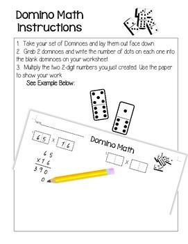 2-Digit Multiplication Domino Activity