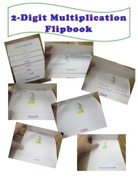 2-Digit Multiplication Flip Book