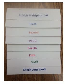 2-Digit Multiplication Flip Book