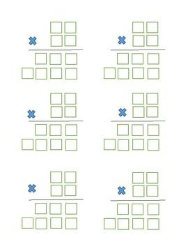 2 Digit Multiplication Graphic Organizer