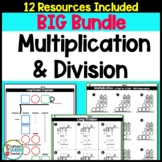 Multiplication & Long Division Worksheets and Organizers Big BUNDLE