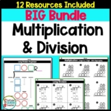 Multiplication and Long Division Worksheets and Organizers BIG BUNDLE