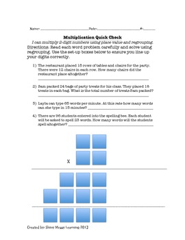 2-Digit Multiplication Quick-Check