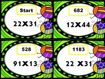 2 Digit Multiplication Scavenger Hunt