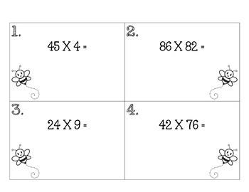2-Digit Multiplication Scoot
