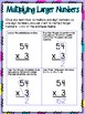 2-Digit Multiplication Small Group Lesson
