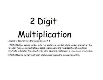 2 Digit Multiplication-Smart Board Lesson