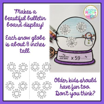 2 Digit Multiplication Snow Globe