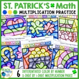 St. Patrick's Day Math   Multiplication 2 Digit   Color by Number