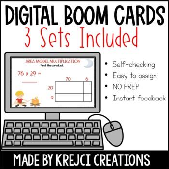 2-Digit Multiplication Task Card Bundle
