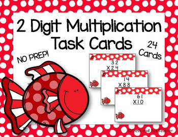 2 by 2 Digit Multiplication Task Cards