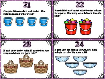 2-Digit Multiplication Task Cards (Boom Cards also Included)