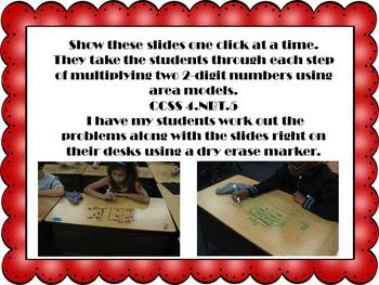 2-Digit Multiplication Using Area Models